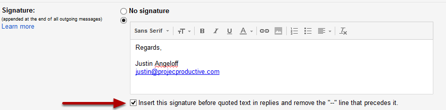 best signature for gmail