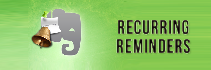 recurring reminders evernote