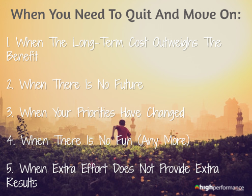 quit and move on